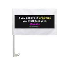 Christmas & Mission Car Flag