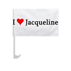 I Love Jacqueline Car Flag