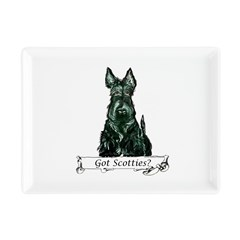 got scotties trans 10x10.png Rectangular Cocktail Plate