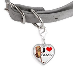 bacon copy.jpg Small Heart Pet Tag