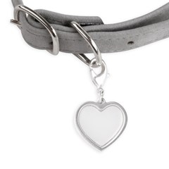 Celestial Hamsa Small Heart Pet Tag