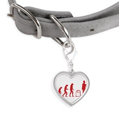 Evolution zombie Small Heart Pet Tag