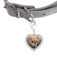 Chihuahua Meadow Small Heart Pet Tag