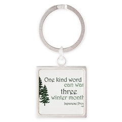 Kind Word Square Keychain