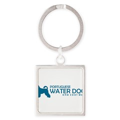 "P. Water Dog ""One Cool Dog"" Square Keychain"