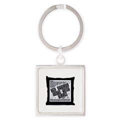 The Official Tooth Fairy Pill Square Keychain
