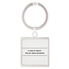 In Case of Rapture Square Keychain