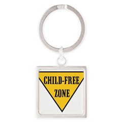 Child-Free Zone Square Keychain