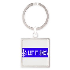 Think Snow Square Keychain