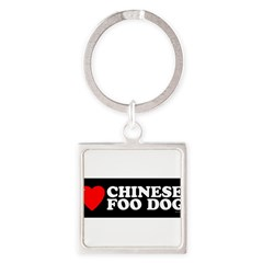 CHINESE FOO DOG Square Keychain