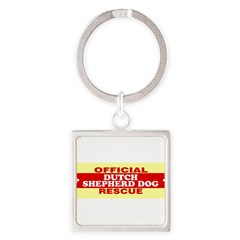 DUTCH SHEPHERD DOG Square Keychain