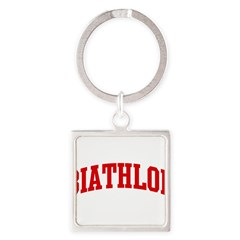 Biathlon (red curve) Square Keychain