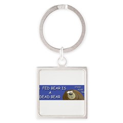 BEAR Square Keychain