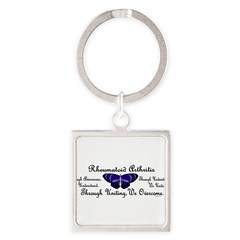 Butterfly Awareness 1 (Rheumatoid Arthritis) Square Keychain