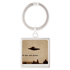 X-Files - We Are Not Alone Square Keychain