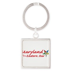 Maryland Eastern Star Square Keychain