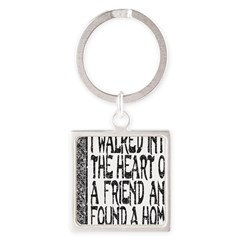 HEART OF A FRIEND Square Keychain