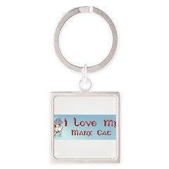 Manx Cats Square Keychain