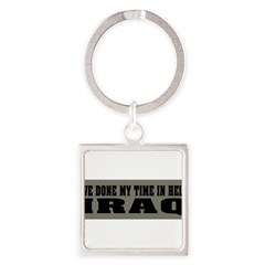 Iraq-Hell Square Keychain