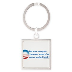 Anti-Obama Because Square Keychain