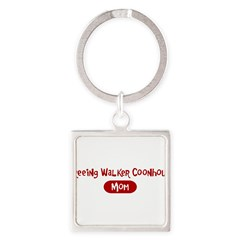 Treeing Walker Coonhound mom Square Keychain