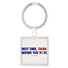 """Think 2012"" Square Keychain"