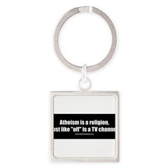 Atheism TV Square Keychain