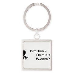Is it Human - Bumper Sticker (single sticker) Square Keychain