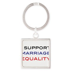 marriage Square Keychain