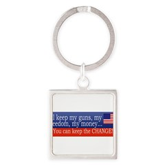 Keep the Change Square Keychain
