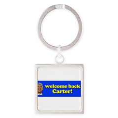Welcome Back Carter Square Keychain