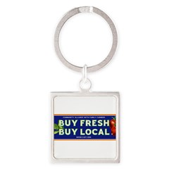 Buy Fresh Buy Local classic Square Keychain