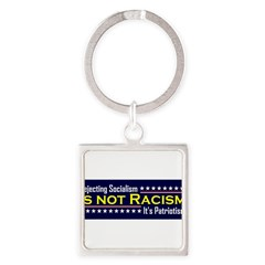 Rejecting Socialism Square Keychain