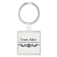 Team Alice Theft Square Keychain