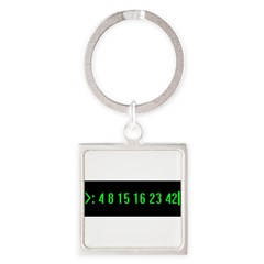 Numbers Square Keychain