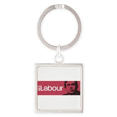 Gordon Brown Labour Party Square Keychain