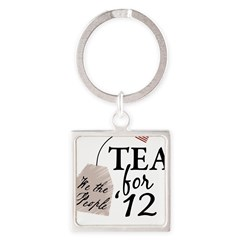 Vote Tea Party 2012 Square Keychain
