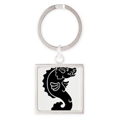 Pigfish Square Keychain