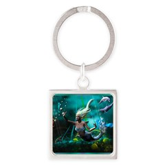 Best Seller Merrow Mermaid Square Keychain