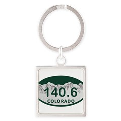 140.6 Colo License Plate Square Keychain
