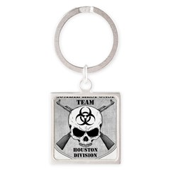 Zombie Response Team: Houston Division Square Keychain