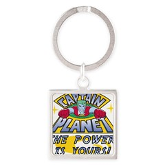 Captain Planet Power Square Keychain