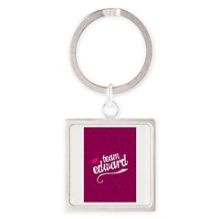 Team Edward Square Keychain