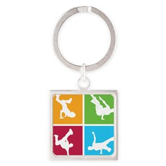 Nice various breakdancing Square Keychain