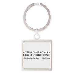 Boxes Square Keychain