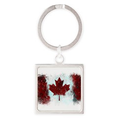 Canadian Graffiti Square Keychain