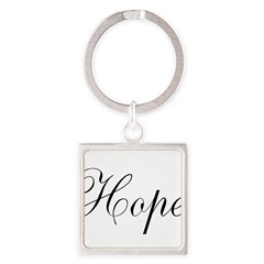 Hope Square Keychain