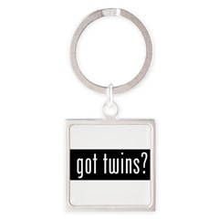 got twins? Square Keychain