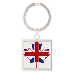 UK Maple Square Keychain