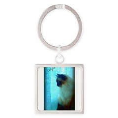DollyCat Atmosphere - Ragdoll Cat - Square Keychain